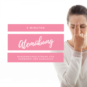 Atemübung Nasenwechselatmung
